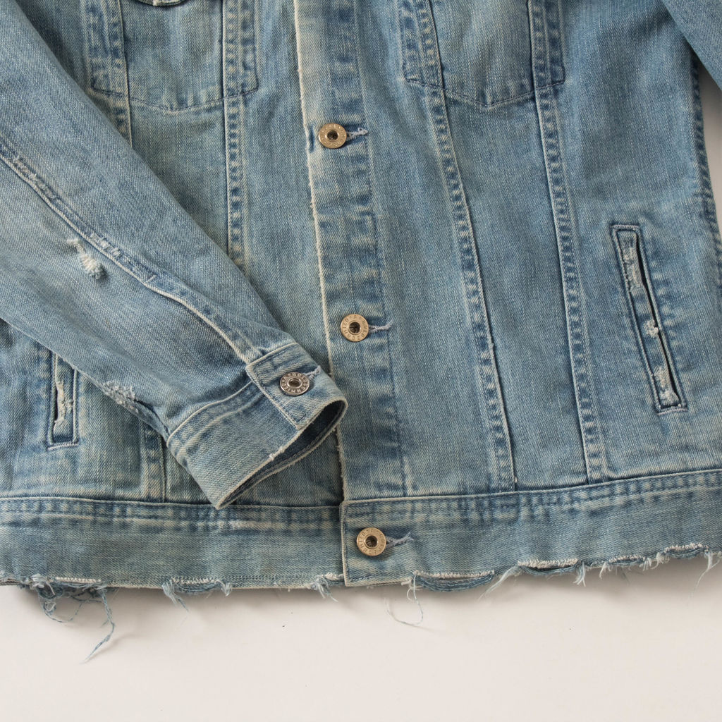 AG Jeans Embroidered Denim Jacket