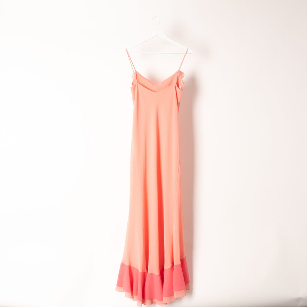Vintage Drape Ruffle Dress