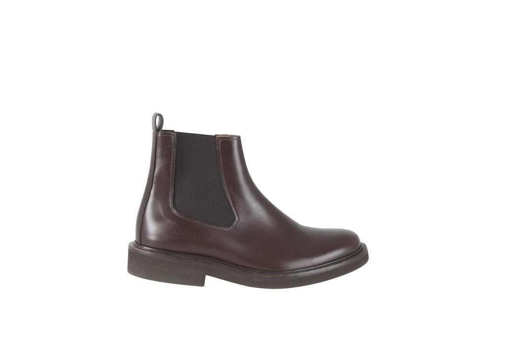A.P.C. Dark Brown Chelsea Boots