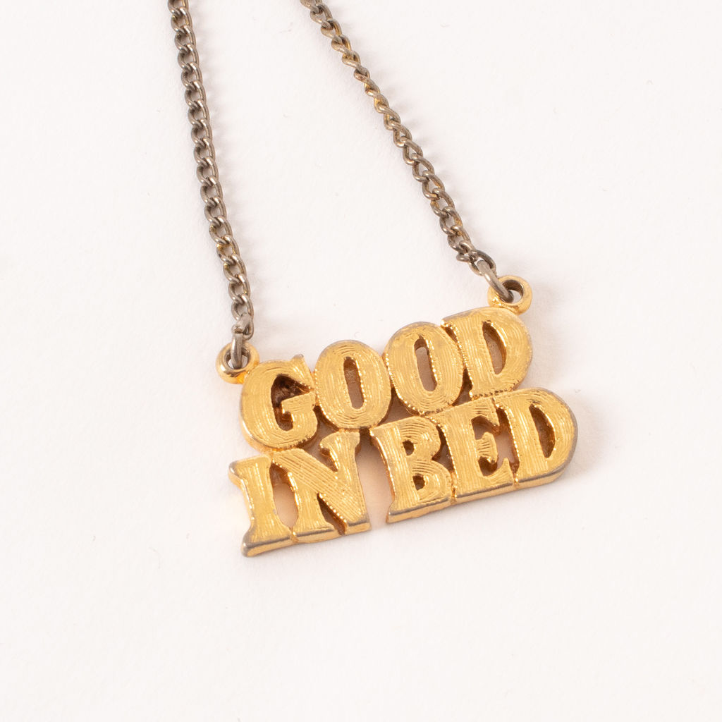 Vintage Good in Bed Necklace
