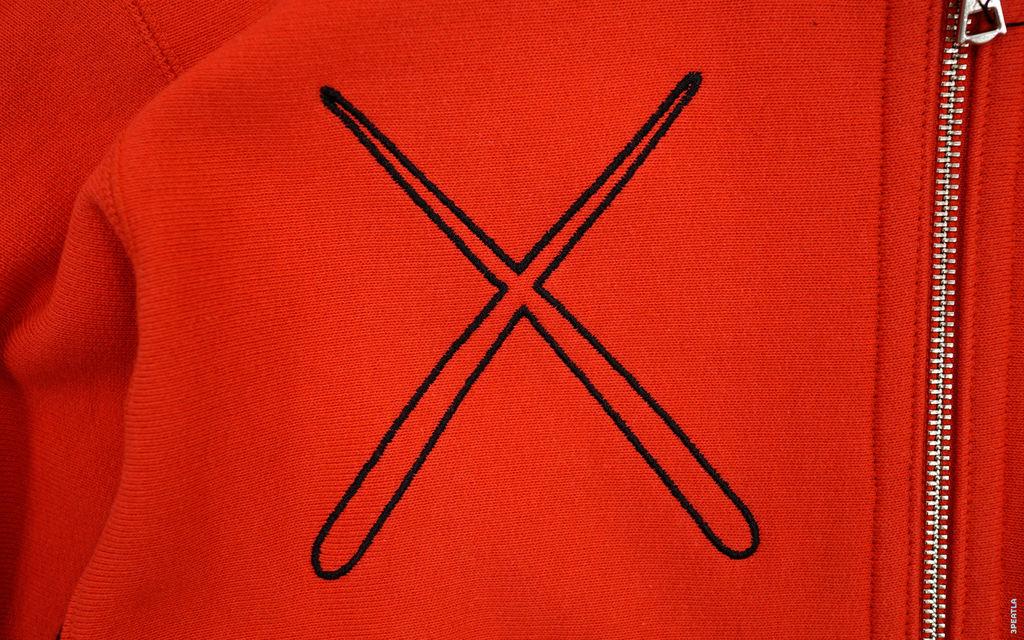 OriginalFake X-Eyes Chomper Ribbing Zip Hoodie