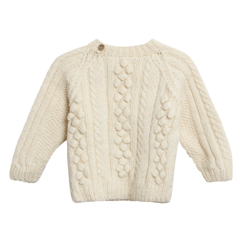 Vintage Crochet Sweater in Cream
