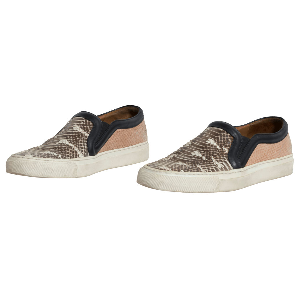 Givenchy Python Slip On Sneakers