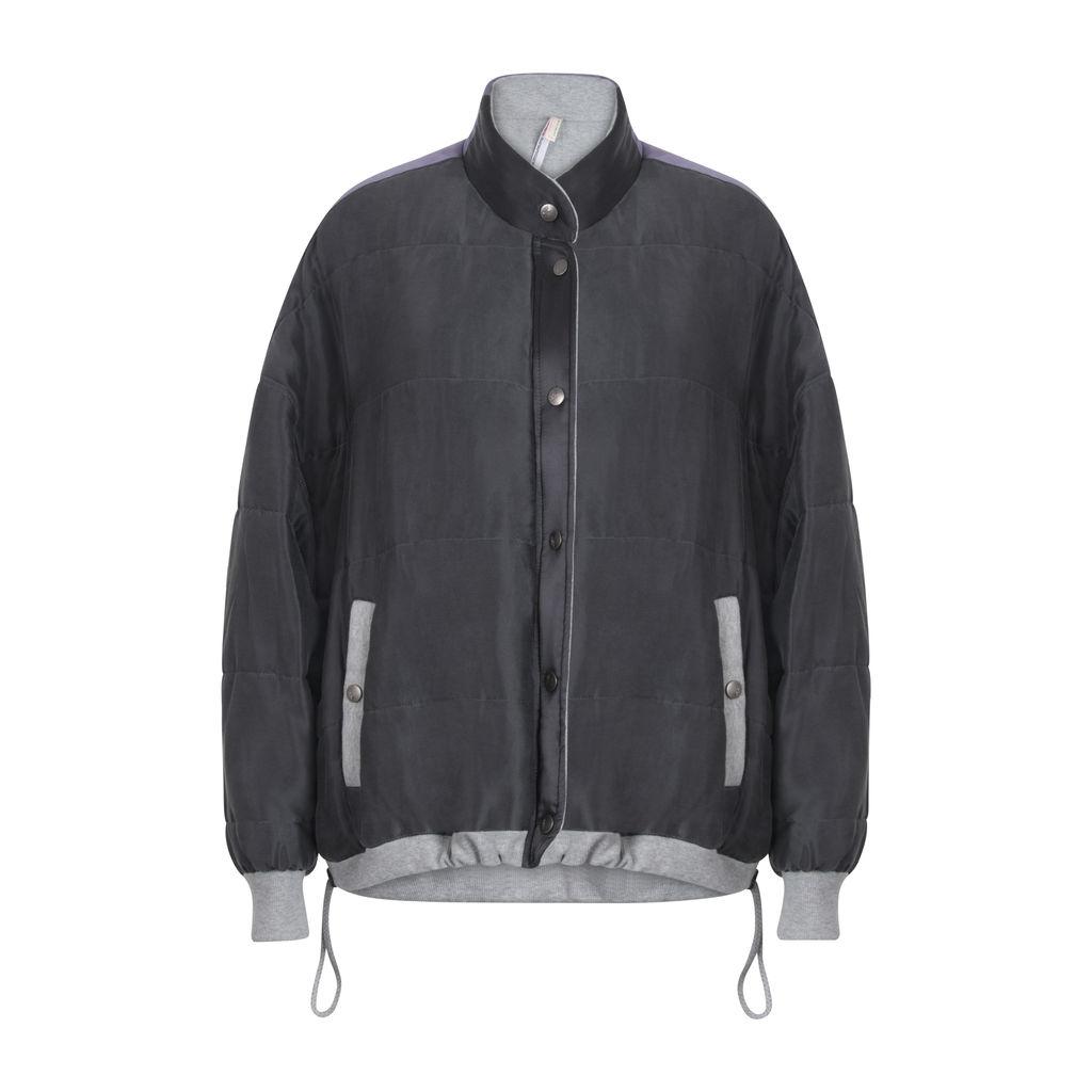 FP Movement Zamo Varsity Jacket- Grey/Purple