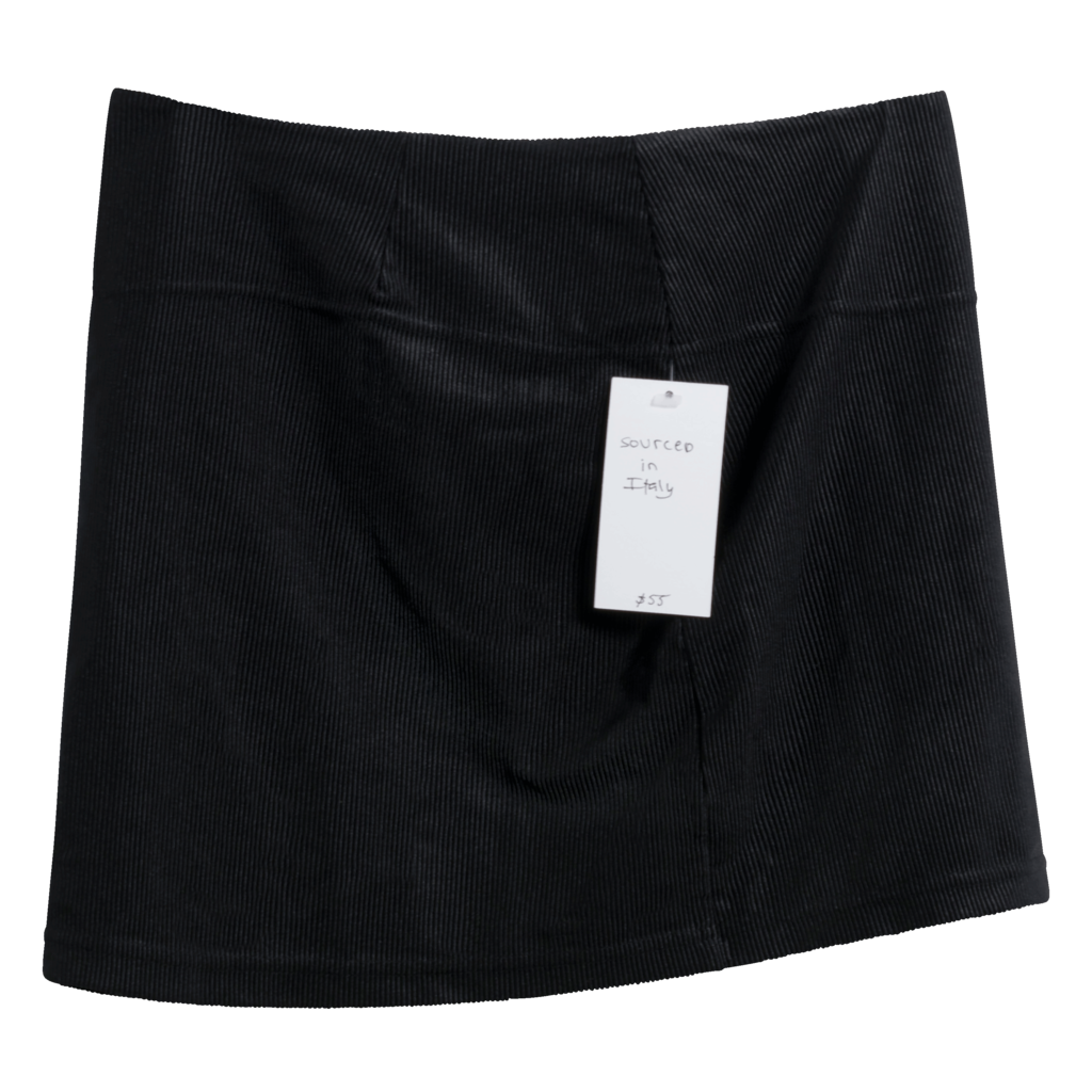 Omar Piragino Vintage Black Lace-Up Mini Skirt