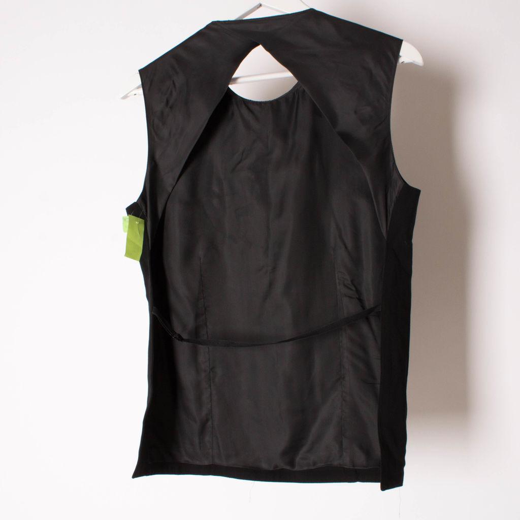 Ann Demeulemeester Open-Back Black Vest