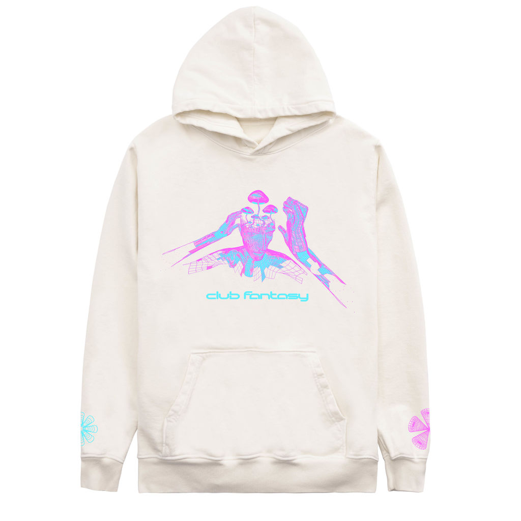 Club Fantasy Textbook Trip Hoodie in Cream