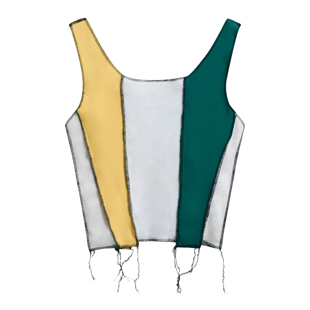 JJVintage Reworked Nike Tank in Teal/White/Yellow