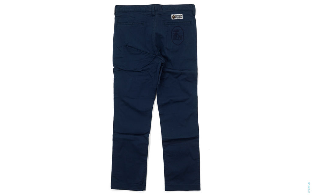Apehead Embroidered Chino Pants navy