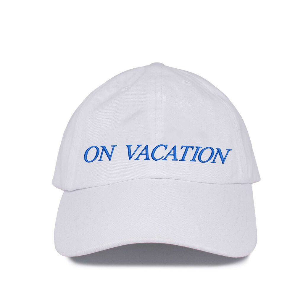 On Vacation- White