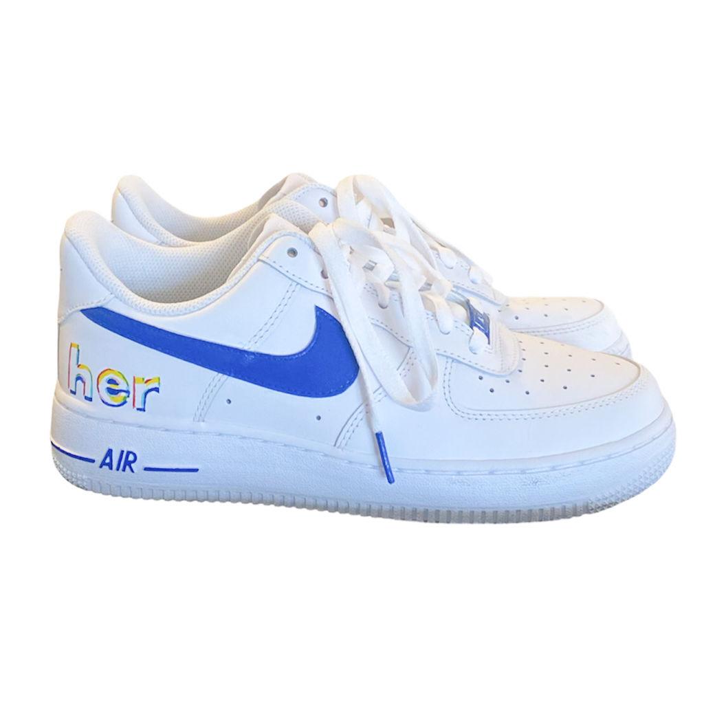 Custom AF1 Shoes - Royal Blue