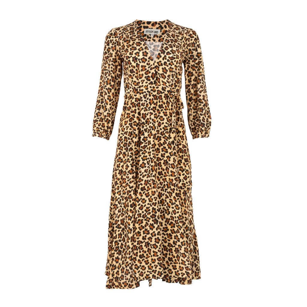 Mirae Victoria Leopard Midi Dress