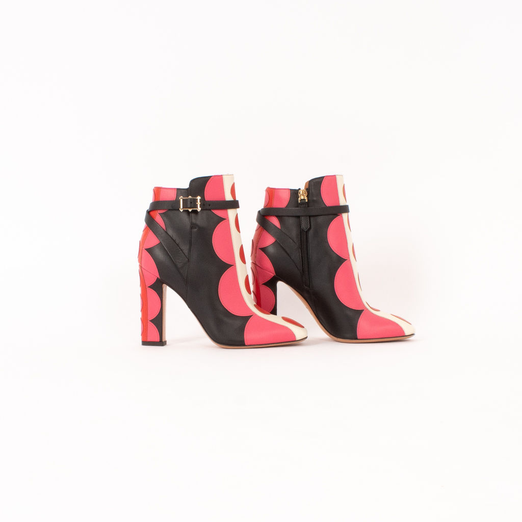 Valentino Carmen Leather Booties