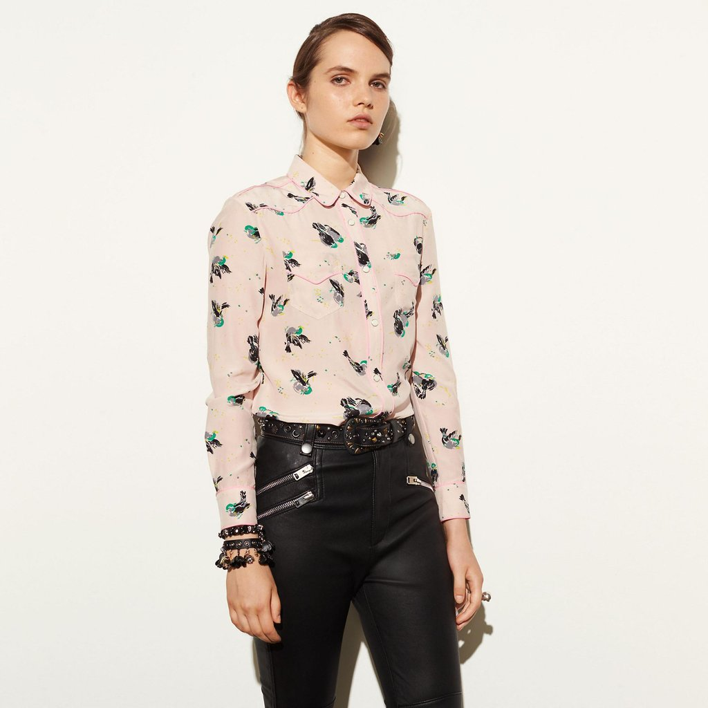 Coach 1941 Printed Piped Blouse curated by Sami Miro