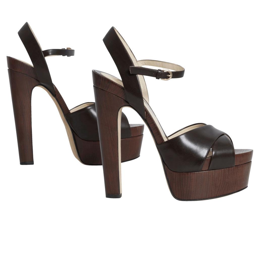 Brian Atwood Platform Python Sandals