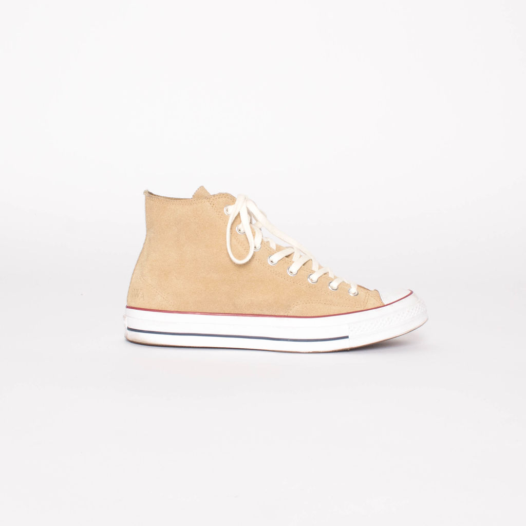 J.W. Anderson Metallic Mens Gold Suede Chuck Taylor All Star Converse