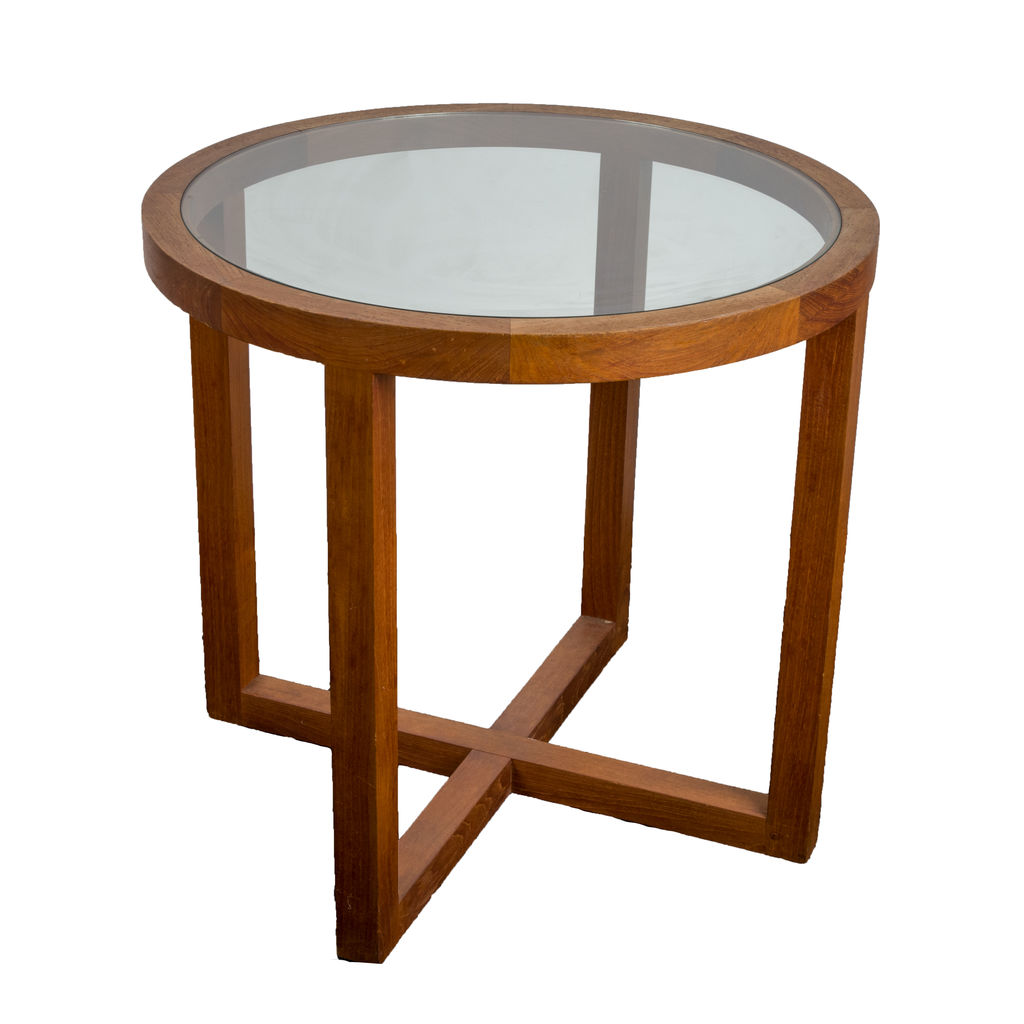 Wooden Glass Side Table