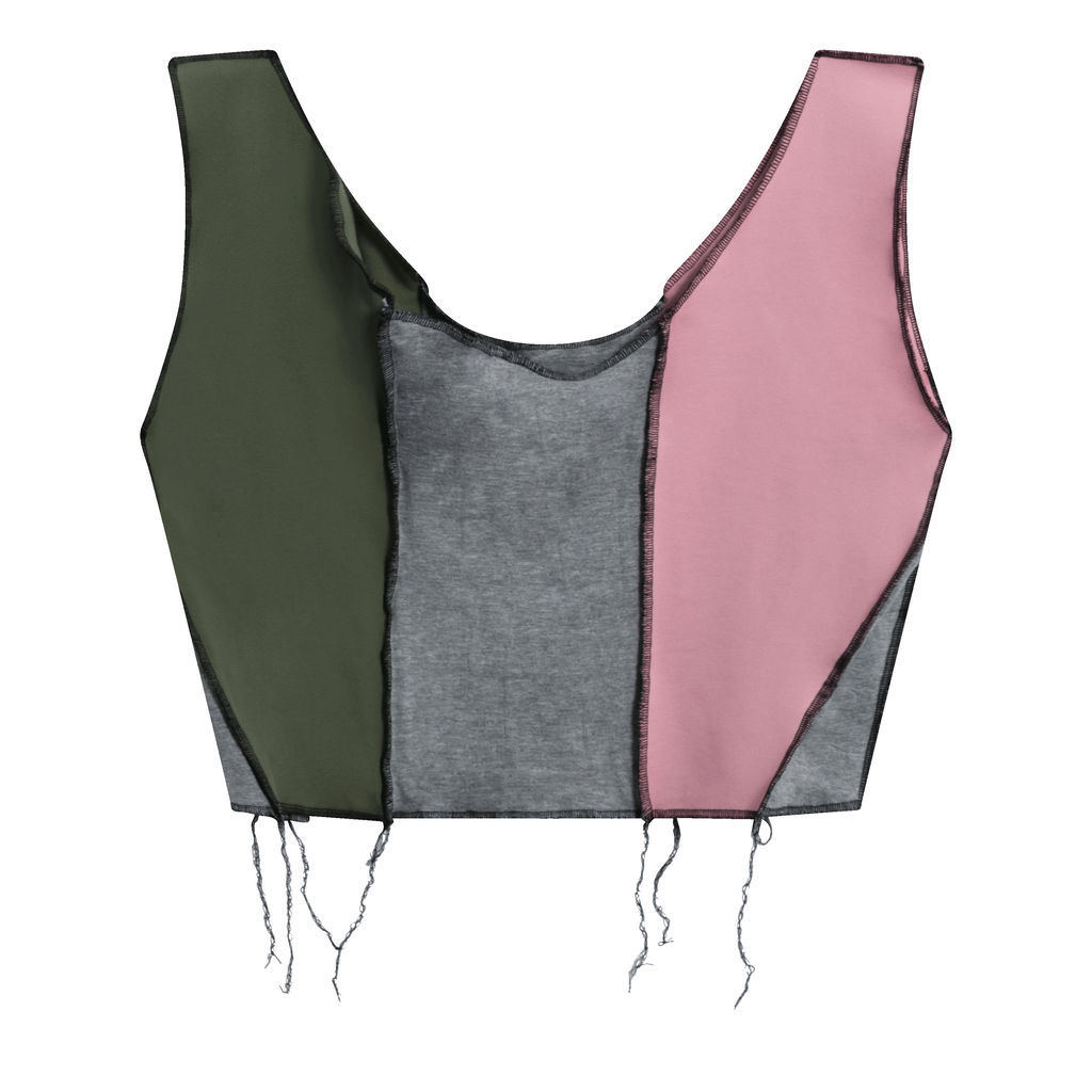 JJVintage Reworked Nike Tank in Pink/Grey/Green