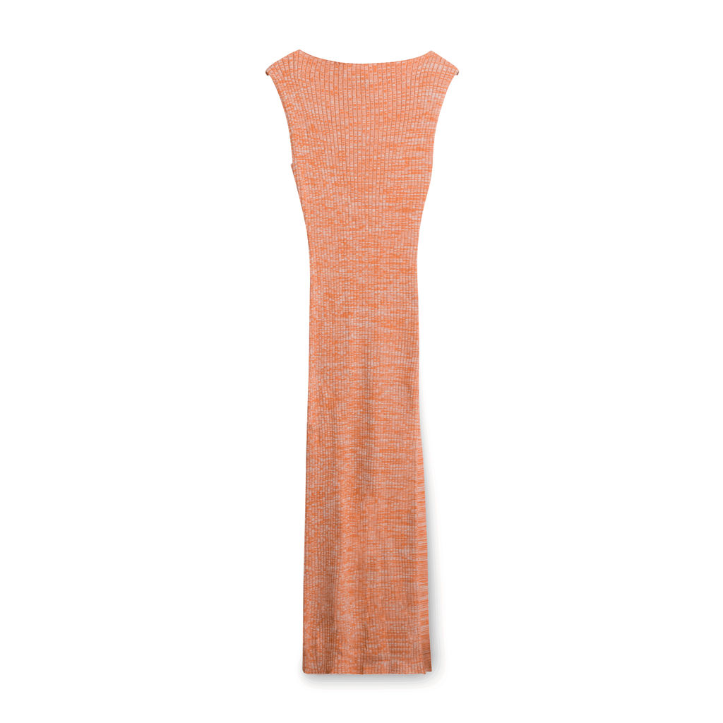Anna Quan Fitted Knit Dress - Orange