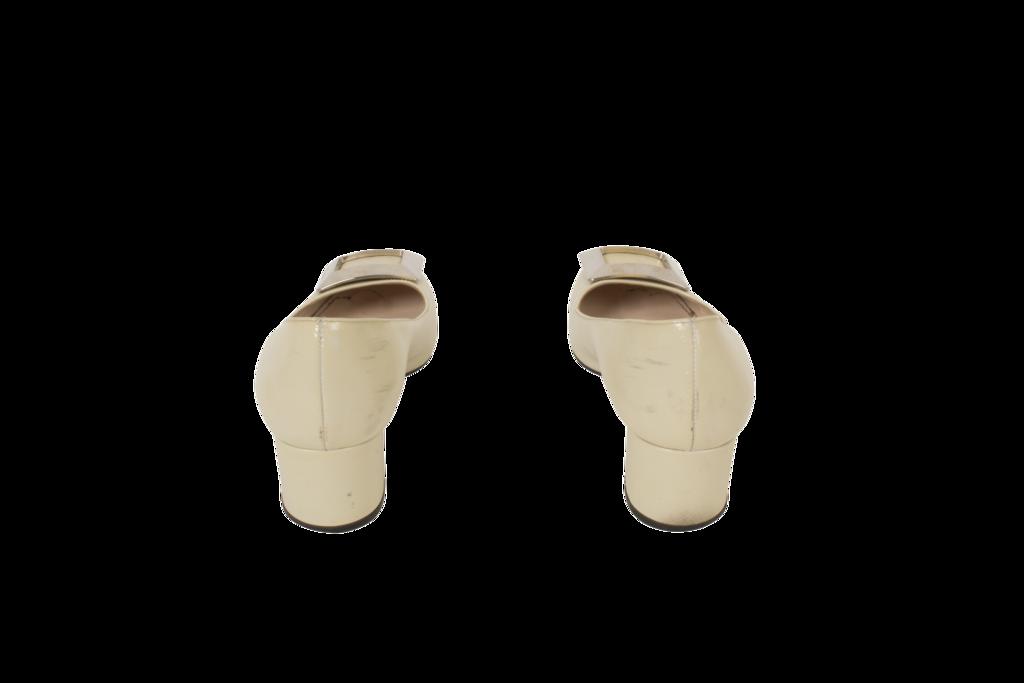 Prada Patent Leather Square Toe Pump
