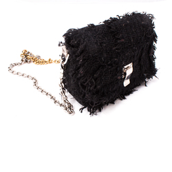 Proenza Schouler Small Courier Frayed Tweed Chain Bag curated by Olivia Lopez
