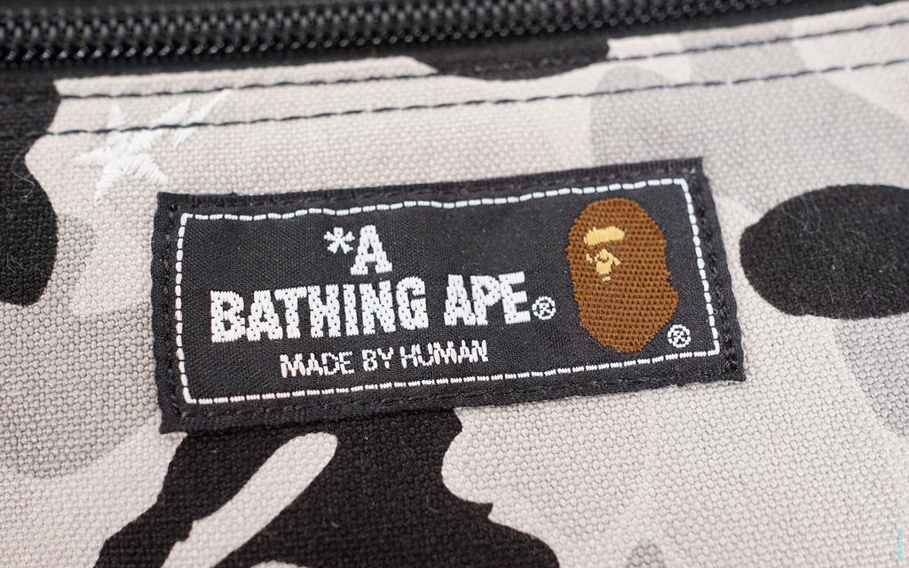BAPE Embroidered Sta ABC Camo Accessory Case