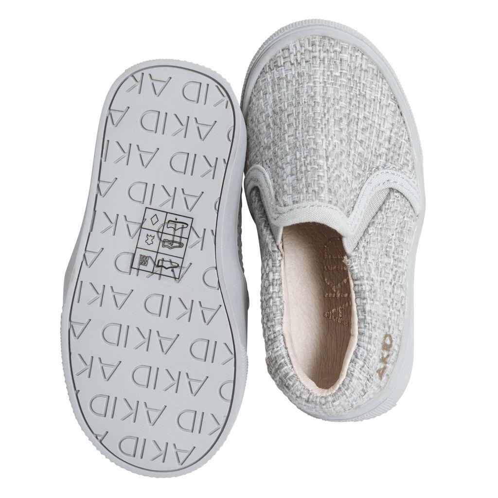 AKID Grey Slip-on Woven Sneakers