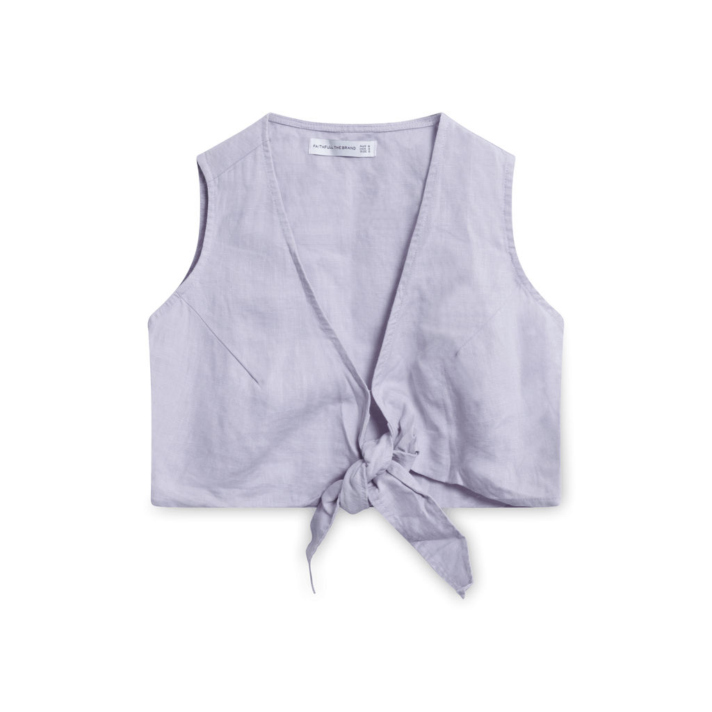 Faithfull the Brand Marcie Tie Top - Lavender
