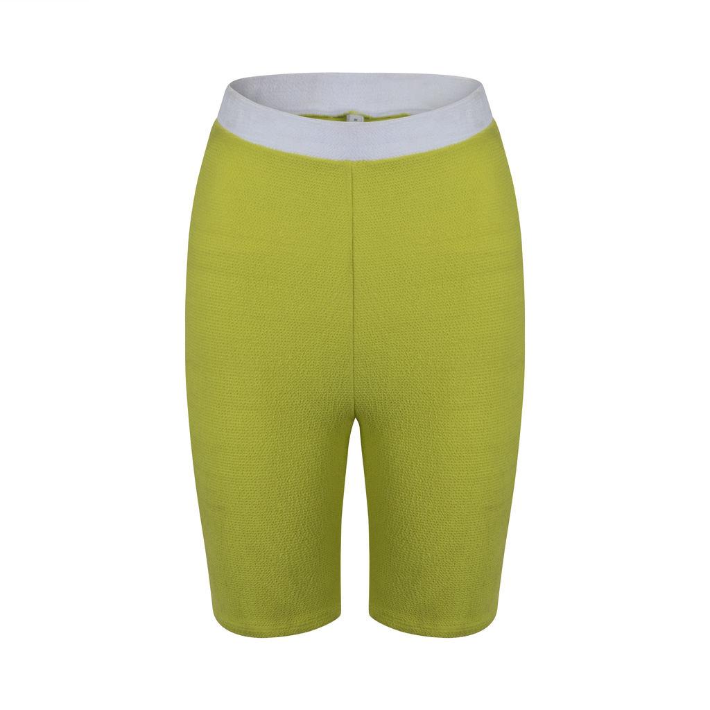 Solid & Striped Lime Bike Short