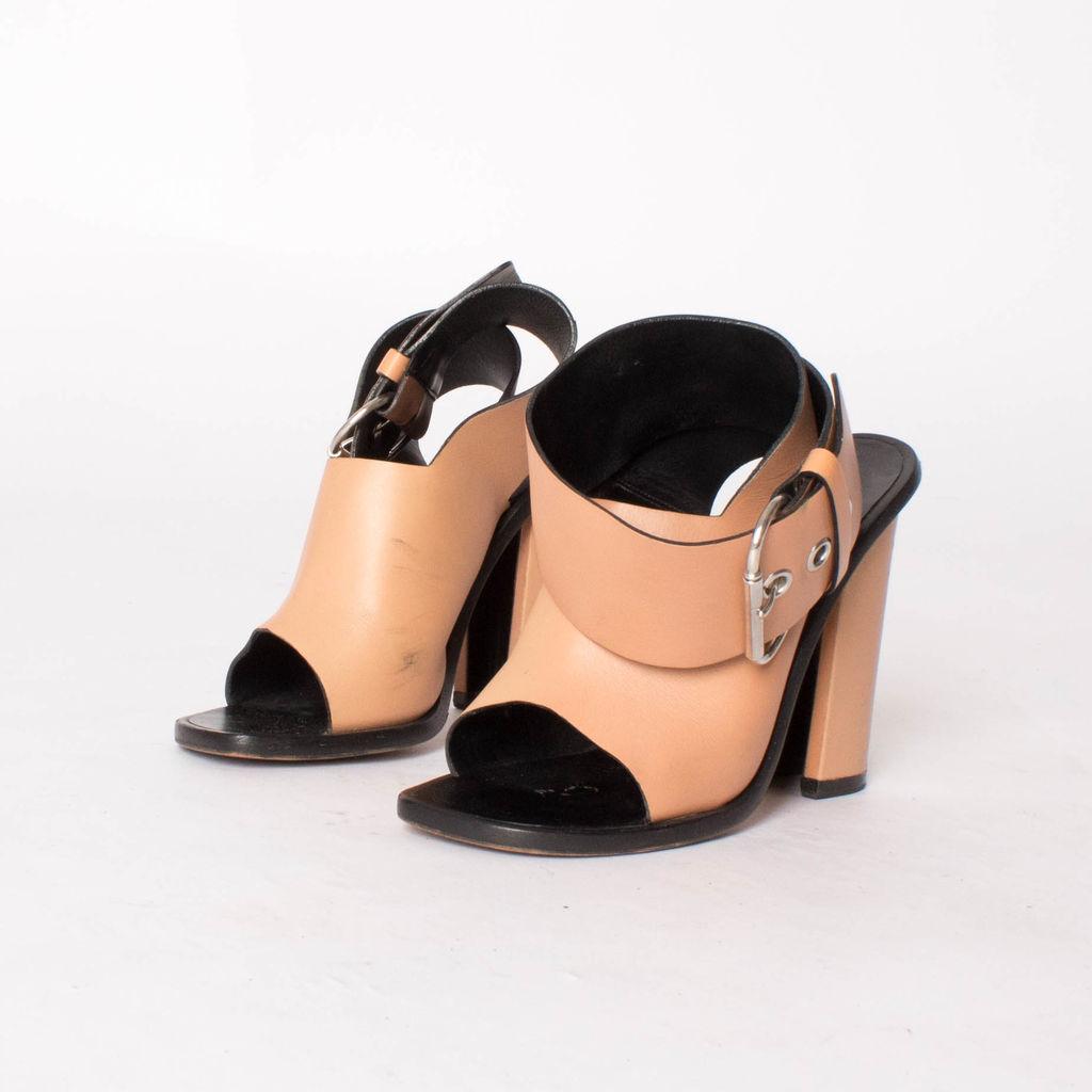 Céline Tan Ankle Wrap Heel