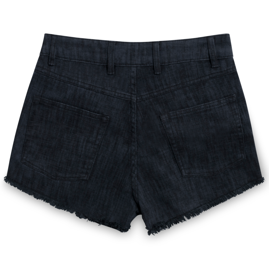 Sandro Frayed Denim Shorts