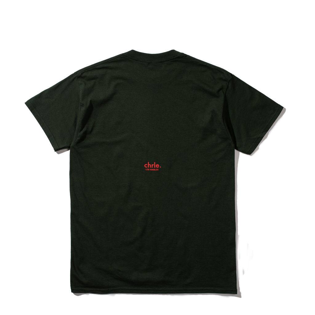 CHRLE. Essential SS T-Shirt in Forrest Green
