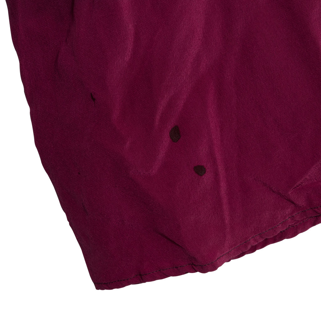 Rixo Kaia Plum Silk Long Sleeve Dress