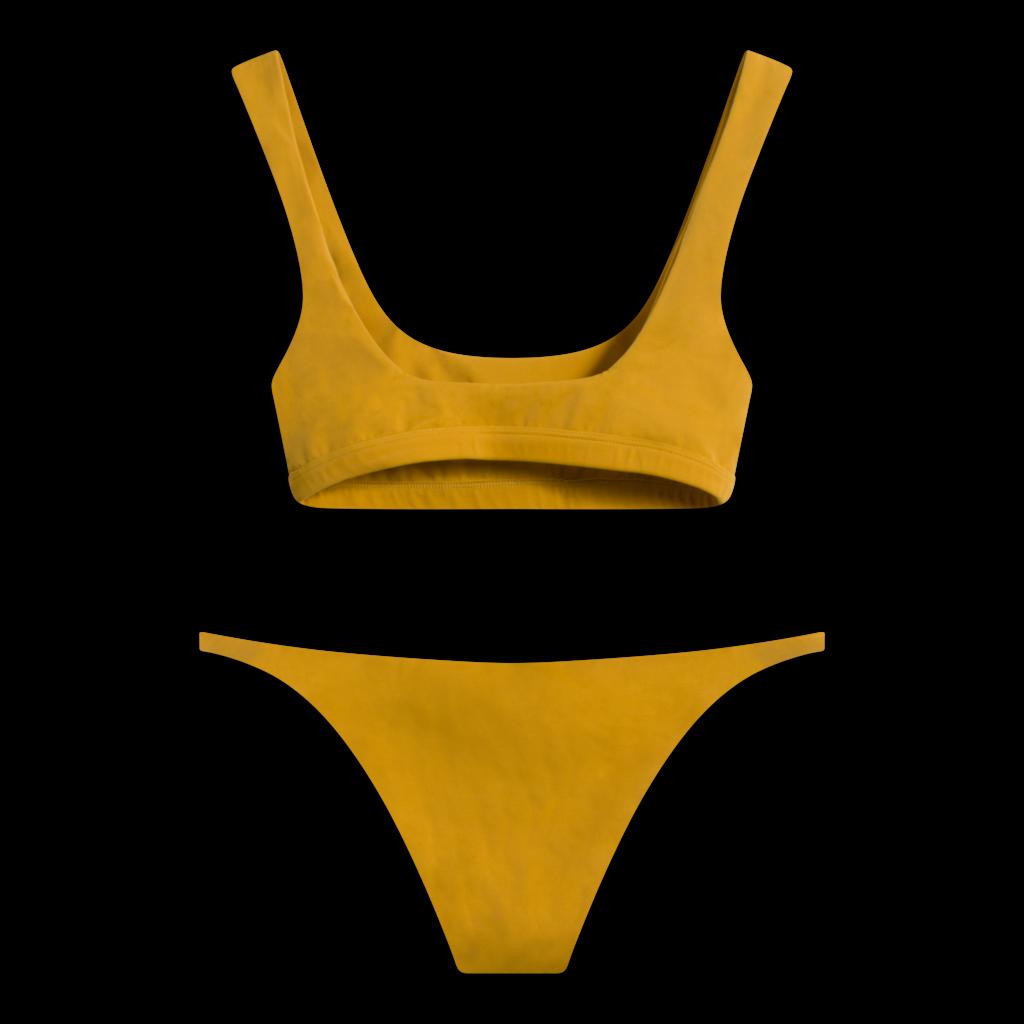 Wanderlust Swim Mustard Bikini