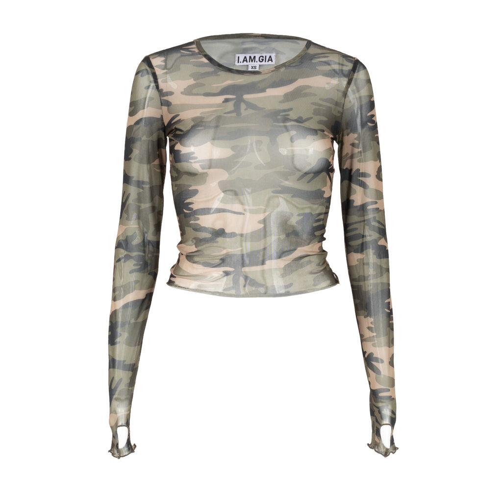 I.AM.GIA Suki Camo Crop Top