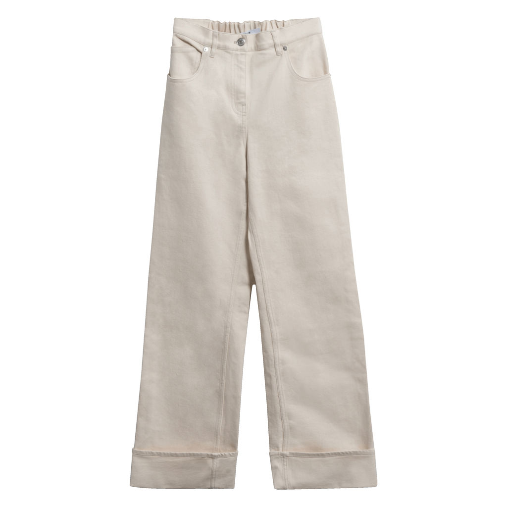 Thakoon High Waisted Denim Pant in Ecru