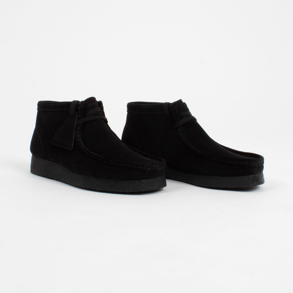 Clarks Wallabee Black Suede Boots