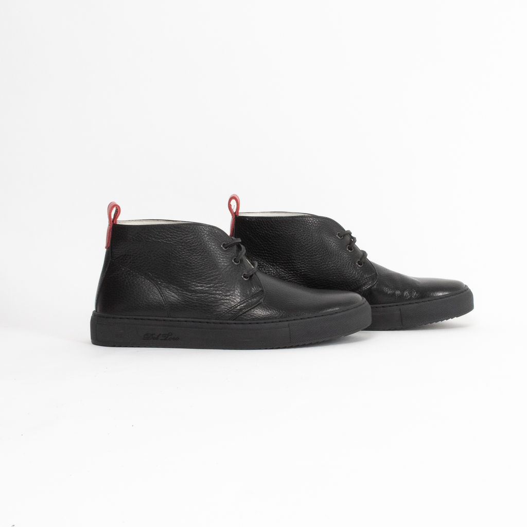 Del Toro Leather High Top Chukka Boots