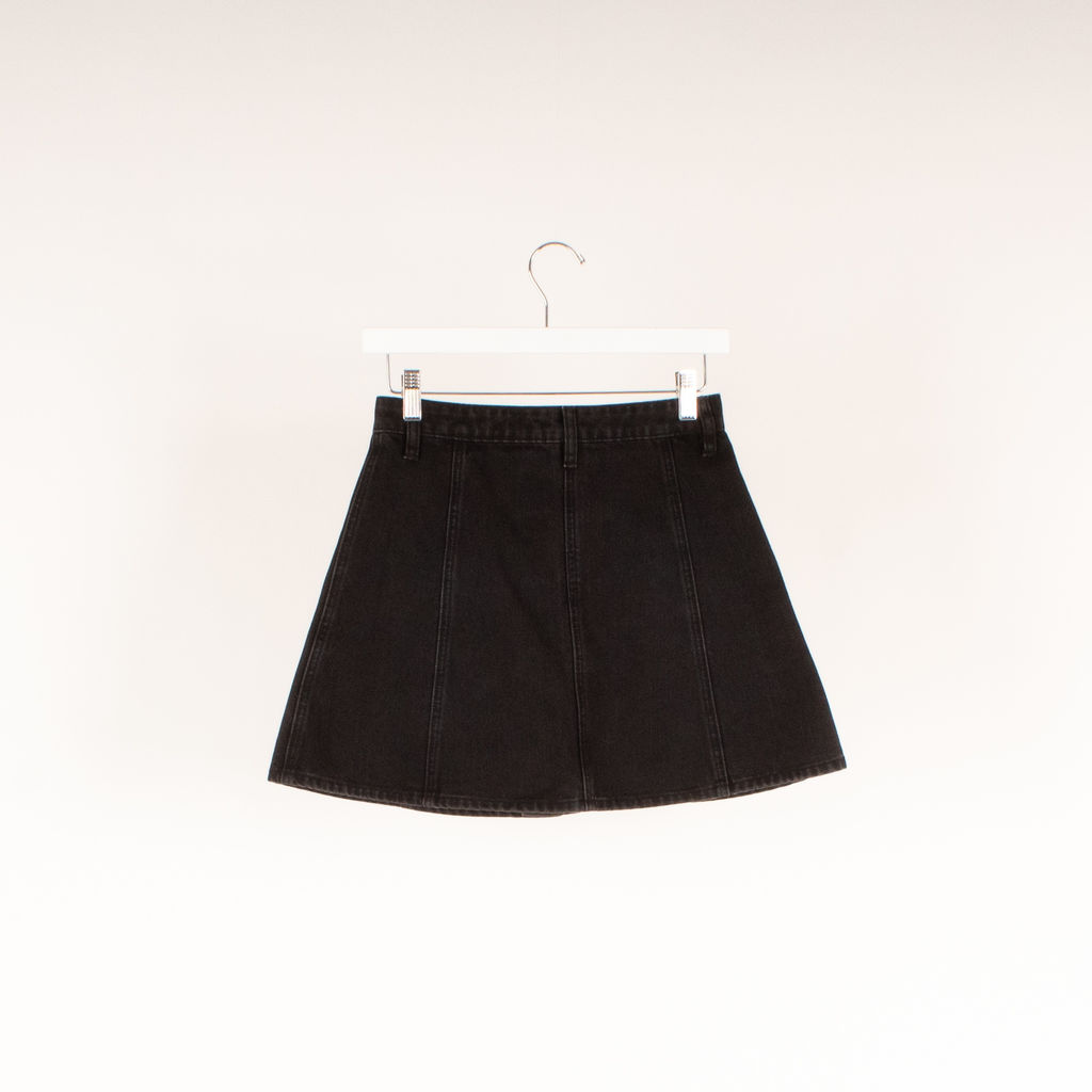 RES Denim Button Front Mini Skirt