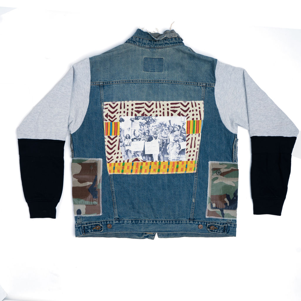 "AllanMarco: ""Our Parade"" Military Denim Jacket"