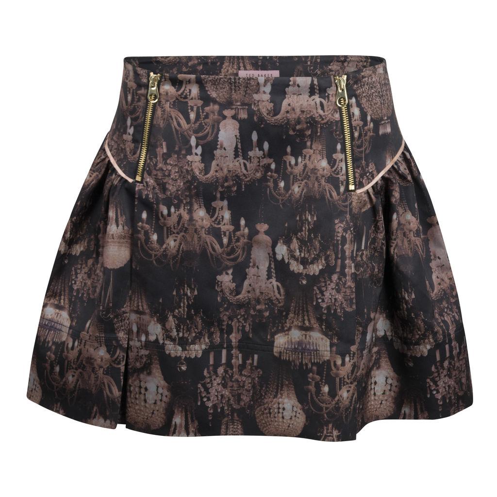 Ted Baker London- Chandelier Print Pleated Skirt