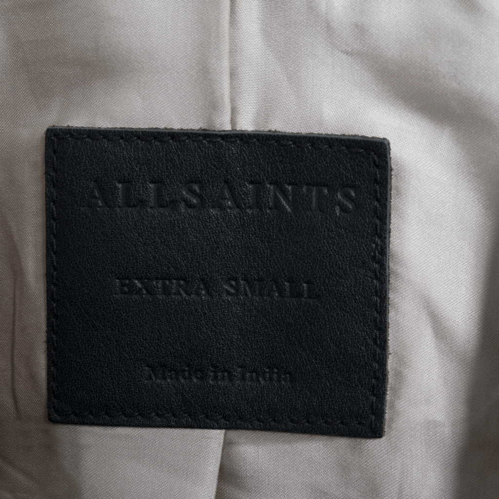 All Saints Oversized Suede Biker Jacket