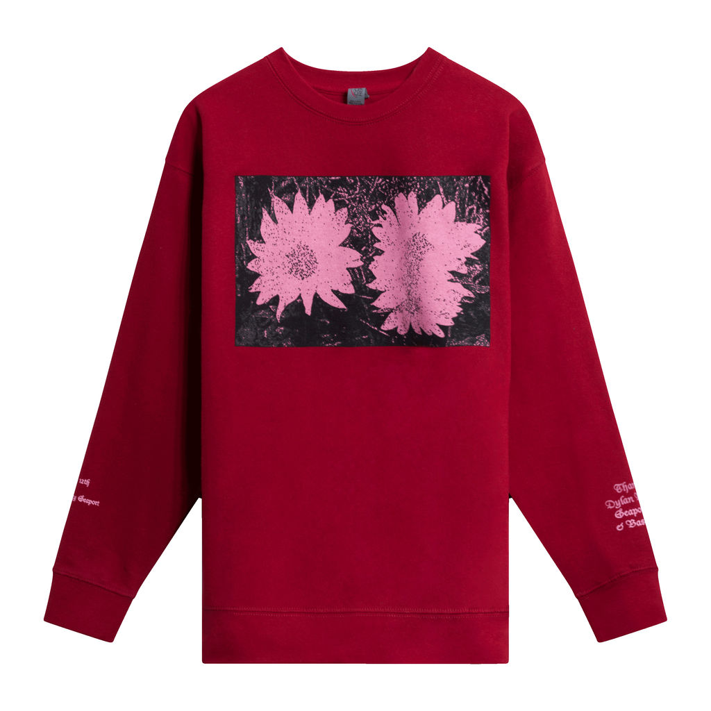 Daisies Crewneck by Chris Lloyd- Red