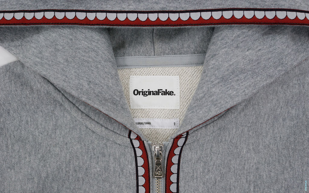 OriginalFake Final Season Chomper Lined Zip-Up Hoodie