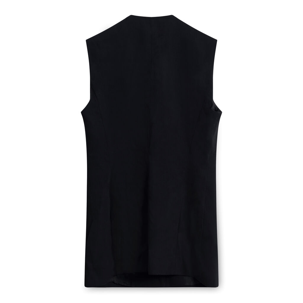 Vintage Wolford Wool Mini Dress - Black