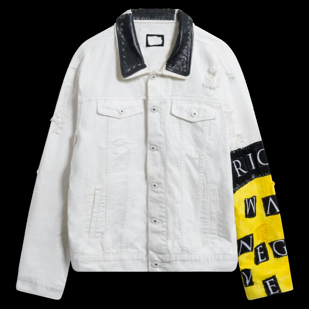 Creative Violence White Denim Jacket