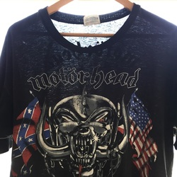 "Vintage 1991 MOTORHEAD North American ""Nemo Malus Felix"" Tour Shirt  curated by Scott Hopkins"