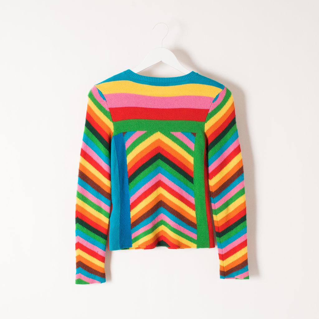 Vintage Valentino Cashmere Rainbow Intarsia Sweater