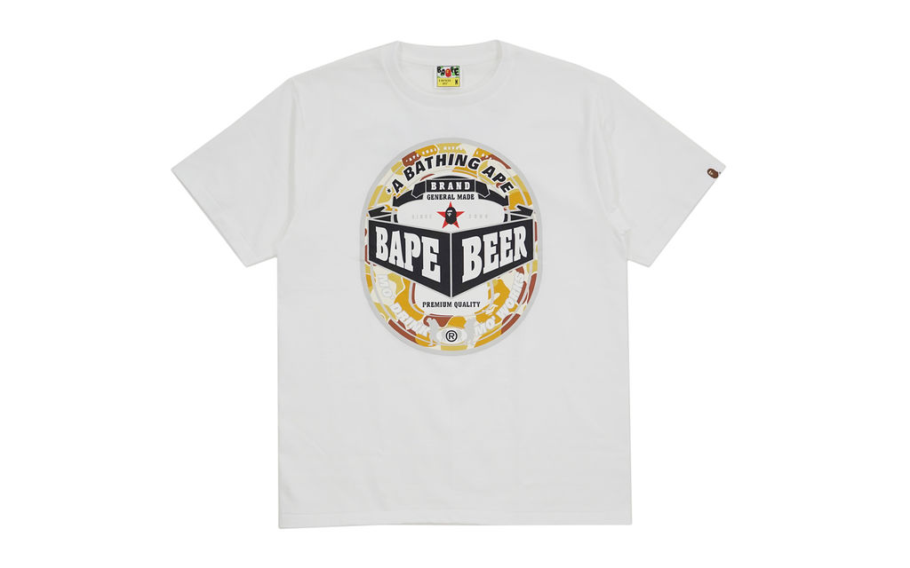 Bape Beer Tee Tokyo Fashion Night Out Exclusive white