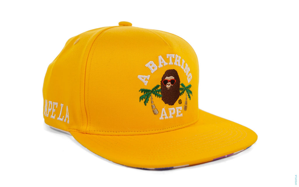 BAPE LA Exclusive LA ABC Camo College Logo Snapback